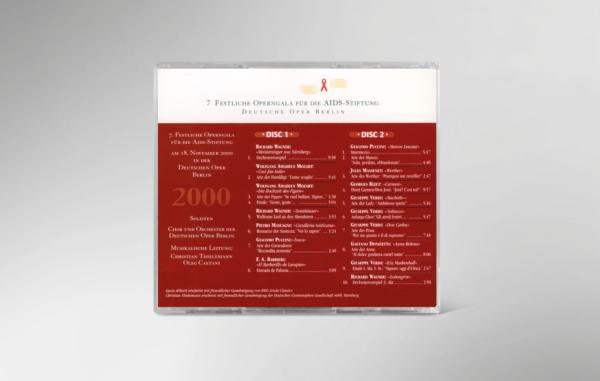 Rückseite der CD zur 7. festlichen Operngala mit allen Titeln und Interpreten