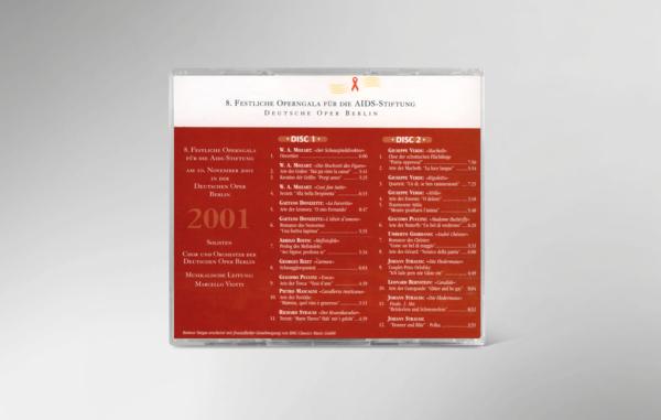 Rückseite der CD zur 8. festlichen Operngala mit allen Titeln und Interpreten