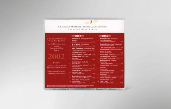 Rückseite der CD zur 9. festlichen Operngala mit allen Titeln und Interpreten