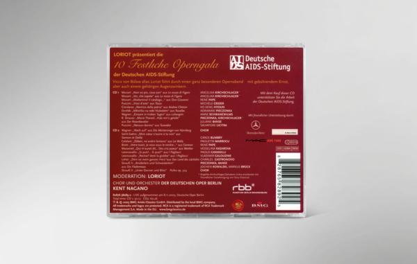 Rückseite der CD zur 10. festlichen Operngala mit allen Titeln und Interpreten