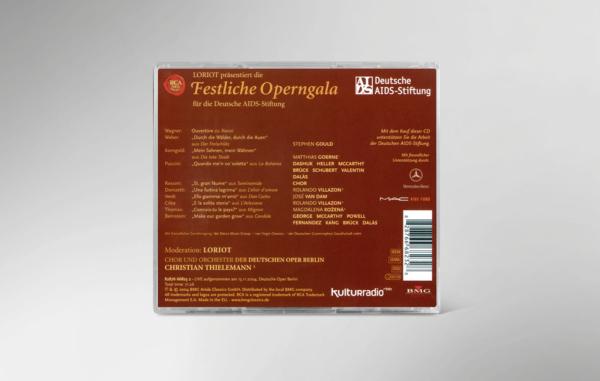 Rückseite der CD zur 11. festlichen Operngala mit allen Titeln und Interpreten