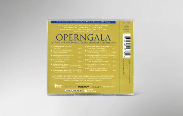 Rückseite der CD zur 17. festlichen Operngala mit allen Titeln und Interpreten