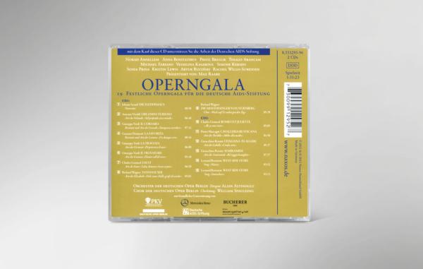 Rückseite der CD zur 19. festlichen Operngala mit allen Titeln und Interpreten