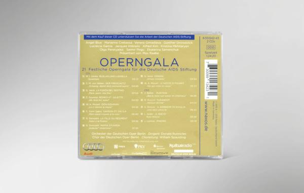 Rückseite der CD zur 21. festlichen Operngala mit allen Titeln und Interpreten