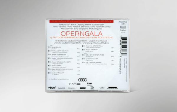 Rückseite der CD zur 23. festlichen Operngala mit allen Titeln und Interpreten